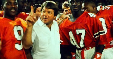 Jimmy Johnson and Michael Irvin at the U Miami football