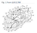 Drawing from a Warrior sports glove protective patent