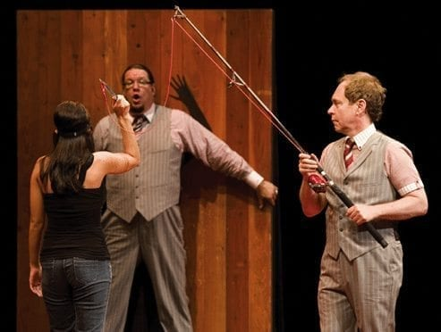 Penn and Teller knife throw blind item