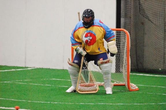 Grand Rapids box lacrosse goalie MILA