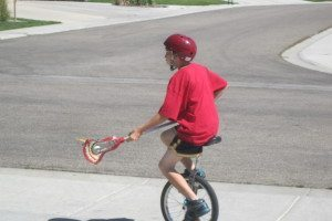 Ian Zaleski Idaho Unicycle Lacrosse
