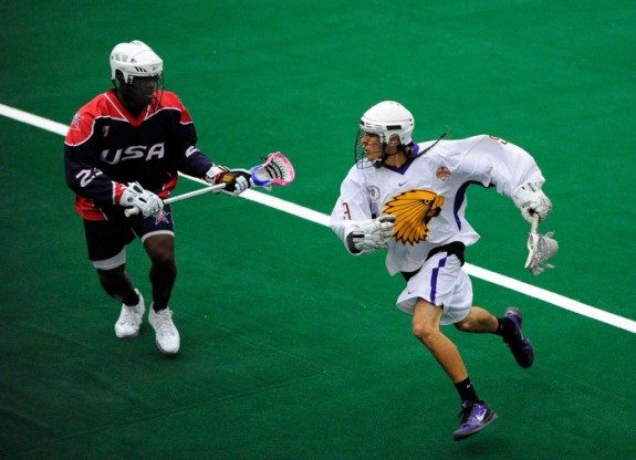 Jovan Miller box lacrosse dye job team USa lax