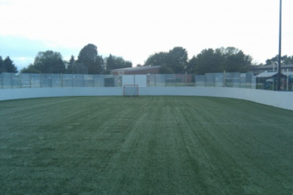 outdoor box lacrosse field in Webster, NY rochester New york