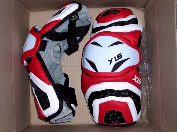 Red STX Cell II Arm Guards Lacrosse