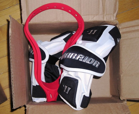 Warrior Lacrosse Nation 11 Arm Guard matte red Brine Clutch X