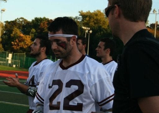 Mikey Powell lacrosse red eye black LXM