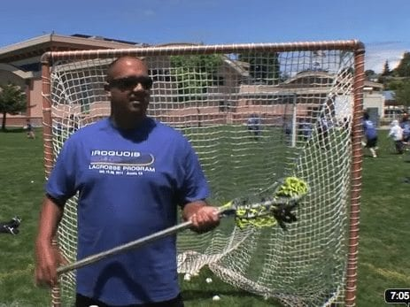 Ansley Jemison explains the Iroquois Lacrosse Program