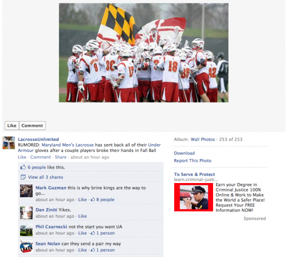 Lacrosse unlimited rumor maryland under armour
