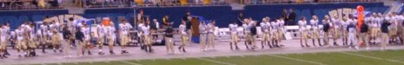 college football sidliine