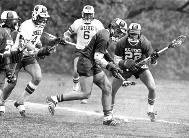 NC state-lacrosse-vs.-duke old school D1 vintage
