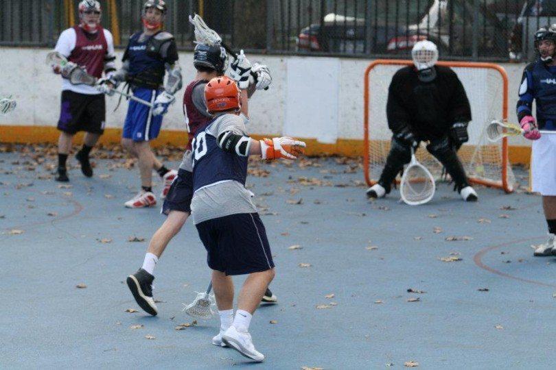 NYC box lacrosse outdoor roller hockey rink