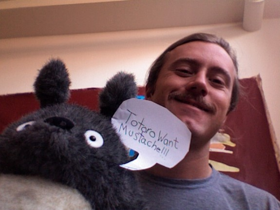 Mustache Monday Totoro