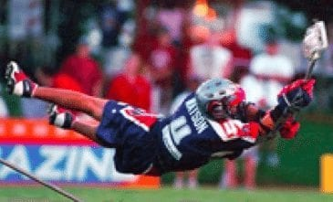 Michael Watson - the dive shot lacrosse