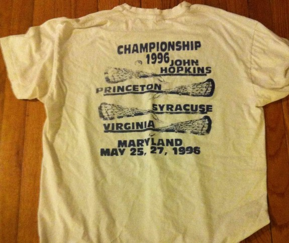Final Four T shirt 1996 lacrosse