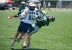 Lacrosse hit head to head kids illegal bodycheck penalty