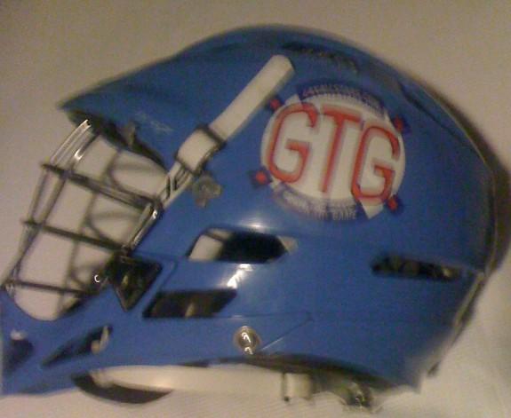 Johnny Vegas lacrosse helmet