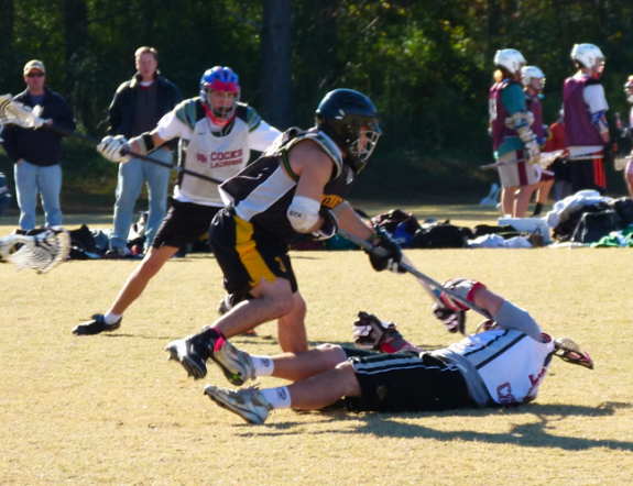 fall ball slash to the head lacrosse