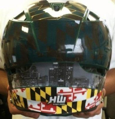 Steveson Cascade Lacrosse helmet HeadWrapz