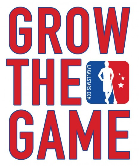 Grow the game logo lacrosse