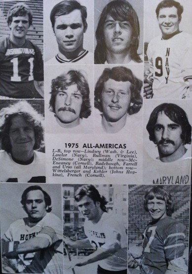 Official Collegiate Scholastic Lacrosse Guide 1976 1975 All Americans