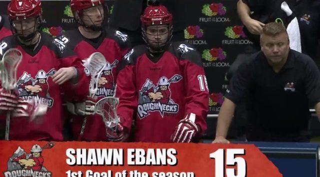 Shawn Evans NLL Calgary Roughnecks Ebans mistake broadcast