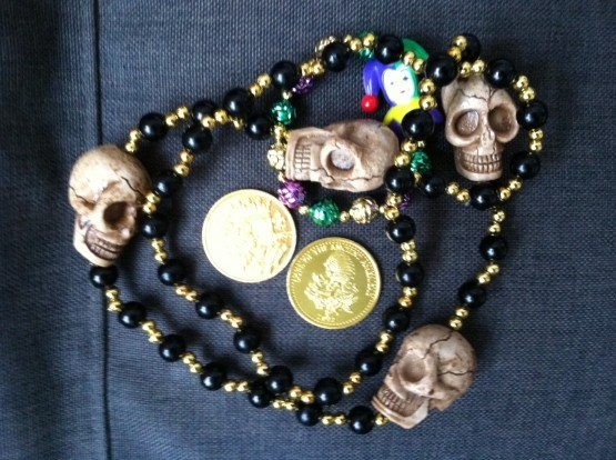 New Orleans beads coins