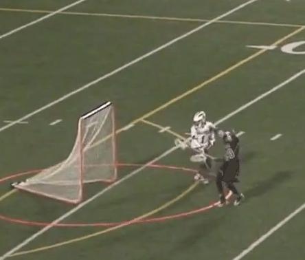 high school lacrosse goalie goal