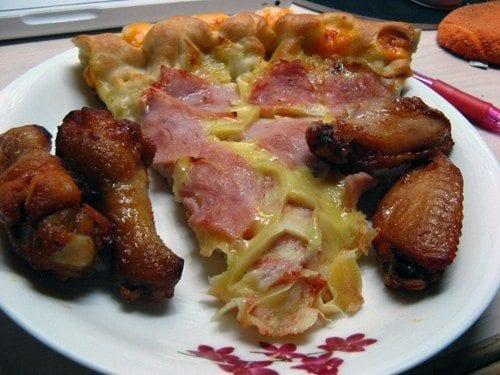 chicken wing pizza