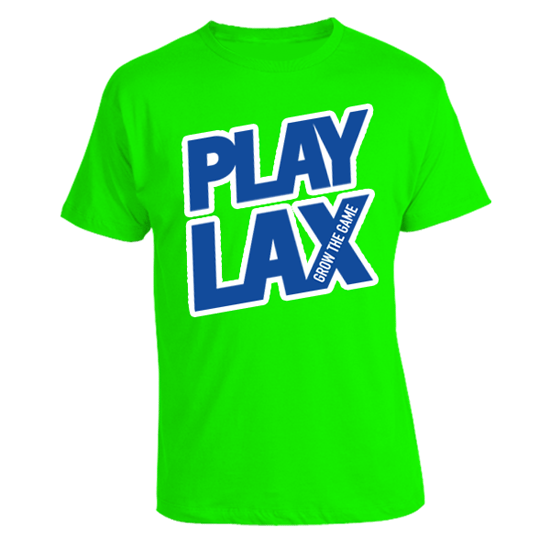 LAS Spring 'Play Lax' in Lime Green