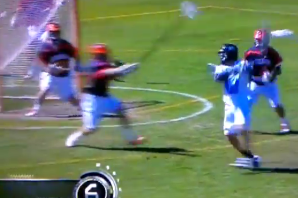 Chad Tutton UNC behind the back goal