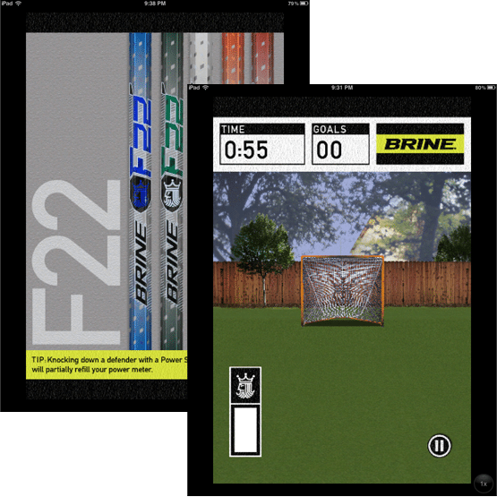 Brine Mobile App Lacrosse Game