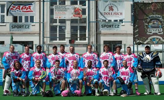 Salt Shakerz Prague box lacrosse team