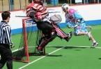 box lacrosse dive shot save