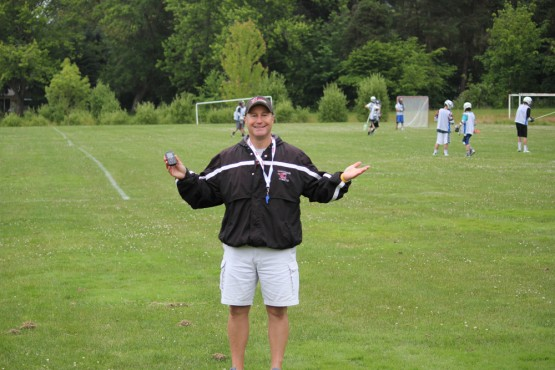 Coach V at Rhino Lacrosse Camp