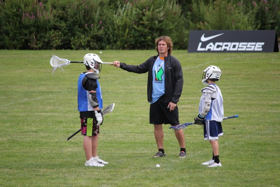 Brett Hughes at Rhino Lacrosse Camp