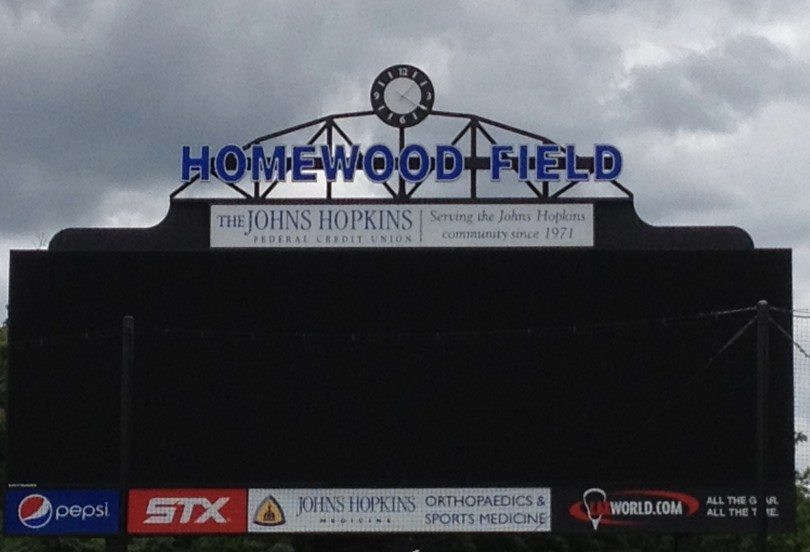 hopkins scoreboard homewood field