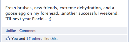 Placid FB Status