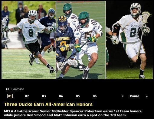 Oregon Men's Lacrosse All Americans
