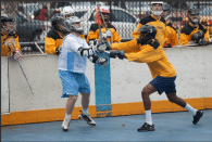 NYC Box Lacrosse - Chris Moser and Cesar Fuentes