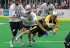 play box lacrosse Syracuse Stingers vs NYC Lax All Stars Box Photo credit: Larry Palumbo