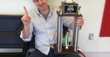Chris Hettler with the trophy. Photo Credit: Ryan Hoffmeister