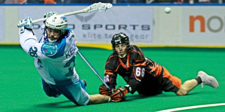 Rochester Knighthawks vs. Buffalo Bandits Stephen Keogh NLL Photo Credit: Larry Palumbo