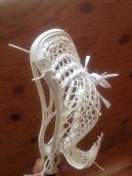 Lars Kiel strung Warrior Evo for Steven Boyle of the Rattlers.