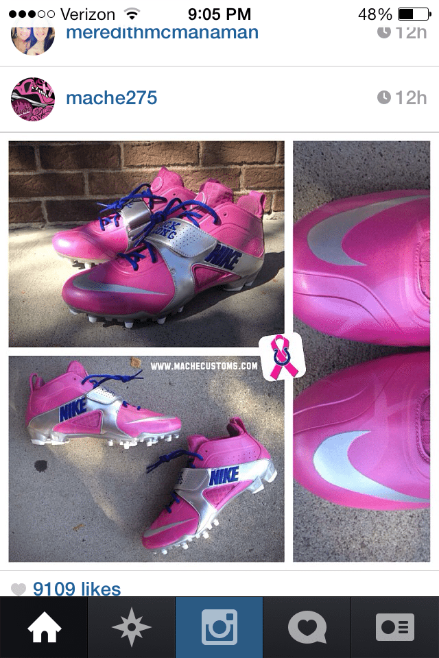 Breast Cancer Awareness Huarache Cleats