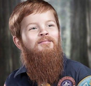 beard kid