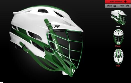 MCLA helmet design contest entry msuspartanslax24