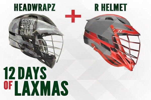 12th day of laxmas cascade r helmet with laxallstars black ops theme headwrapz