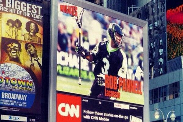 Rob Pannell, Times Square, Wheaties, New York City