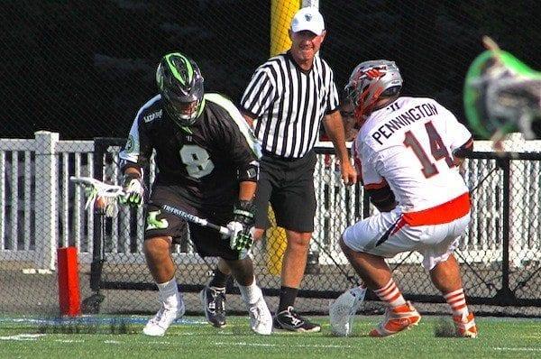 Joe Vitale Long Island Lizards MLL lacrosse Justin Pennington Denver Outlaws