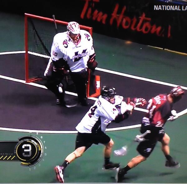 John Grant Jr. NLL Behind the Back One Handed Bounce Goal